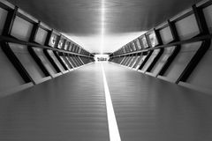 Follow the Light. London Canary Wharf Cross-rail Tunnel Royalty Free Stock Images
