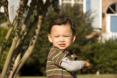 Follow Me. Picture of a child suggesting to be followed Stock Photo