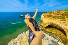 Follow me in Algarve Royalty Free Stock Photo
