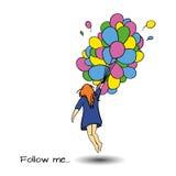 Follow me art Royalty Free Stock Image