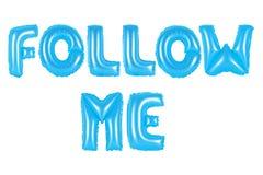 Follow-me, blaue Farbe Stockfoto