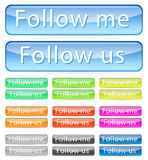 Follow me button Stock Photos