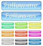 Follow Me Button Stock Photos