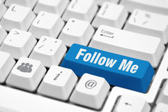 Follow Me button Stock Photography