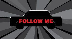 Follow me car Royalty Free Stock Photos