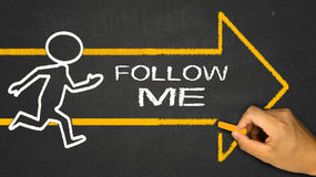 follow me Stock Images