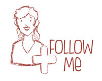 Follow me design Royalty Free Stock Photography