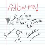Follow me hand drawn Royalty Free Stock Image