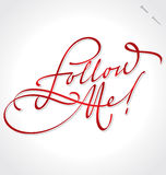 FOLLOW ME hand lettering (vector) Stock Images