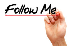 Follow Me Royalty Free Stock Photos