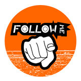 Follow me icon Stock Images