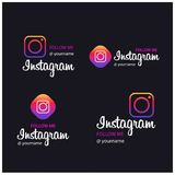 Follow Me on Instagram Banners. For web design and application interface, also useful for infographics. Vector illustration vector illustration