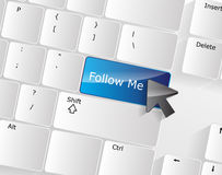Follow me Keyboard Concept Royalty Free Stock Image