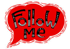 Follow me lettering composition. Royalty Free Stock Images
