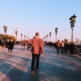 Follow me. Moscow, Sep. 2014 Royalty Free Stock Photo