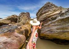 Follow me through the rocks of Krabi island Stock Image