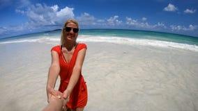 Follow me in Seychelles SLOW MOTION stock footage