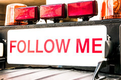 Follow me sign Royalty Free Stock Photos