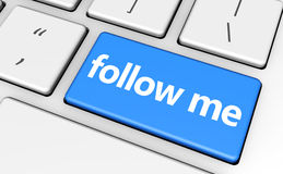 Follow Me Sign Concept Stock Images