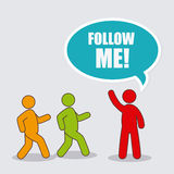 Follow me social and business Stock Image
