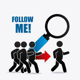 Follow me social and business Royalty Free Stock Images