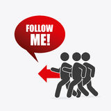 Follow me social and business theme design Stock Image