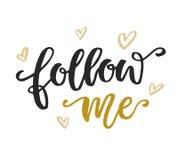 Follow me Social Media Quote Stock Photos