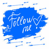 Follow me. Social net. Vector illustration on Stock Photography