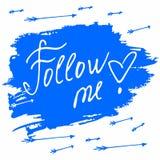 Follow me. Social net. Vector illustration on Stock Photography