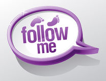 Follow me speech bubble. Stock Image