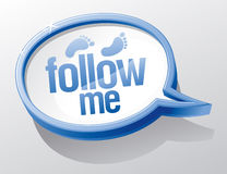 Follow me speech bubble. Stock Photo