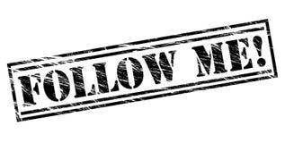 Follow me! stamp Stock Photo