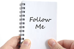 Follow me text concept Stock Images