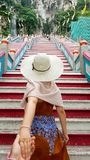 Follow me to Batu caves Royalty Free Stock Images