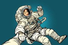 Follow me, woman astronaut Stock Photos