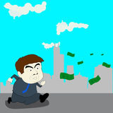 Follow money, illustration design Royalty Free Stock Images