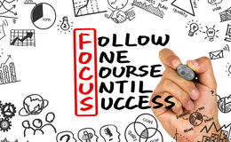 Follow one course until success Royalty Free Stock Photos