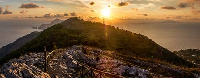 Follow the Path to reach Capri and Ischia Islands. stock images