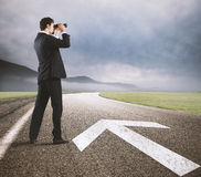Follow the road to success Stock Images