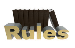 Follow the rules concept Stock Image