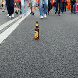 Drinking alcohol leads to violation of the traffic rules  Stock Image