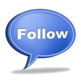 Follow Speech Bubble Indicates Social Media And Likes Royalty Free Stock Photos
