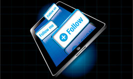 Follow Tablet Royalty Free Stock Photography