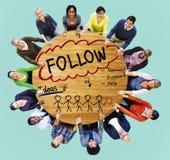 Follow Track Subscribe Social Media Concept Stock Photos