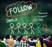 Follow Track Subscribe Social Media Concept Stock Photography