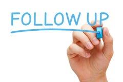 Free Follow Up Blue Marker Stock Photos - 90392913