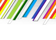 Follow-up color graphic. Follow-up rainbow background with halftone Royalty Free Stock Image