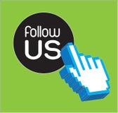 Follow us stock illustration