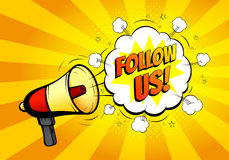 Follow us banner for website Stock Photos