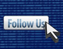 Follow us binary design and cursor Stock Images